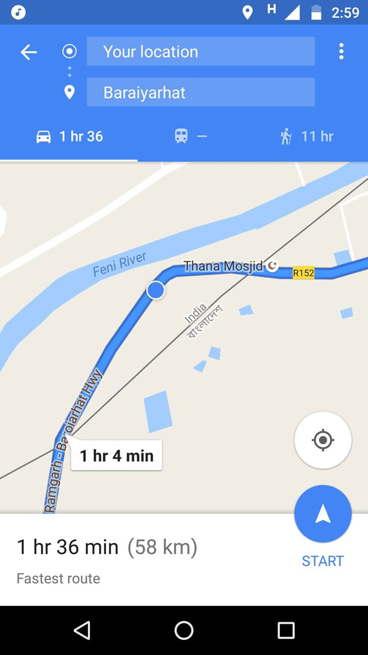 According to google map, we were inside India then.