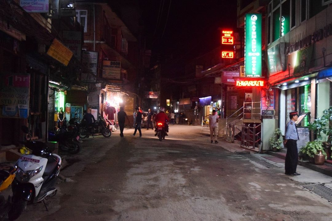 রাতের থামেল কাঠমান্ডু Thamel at night kathmandu