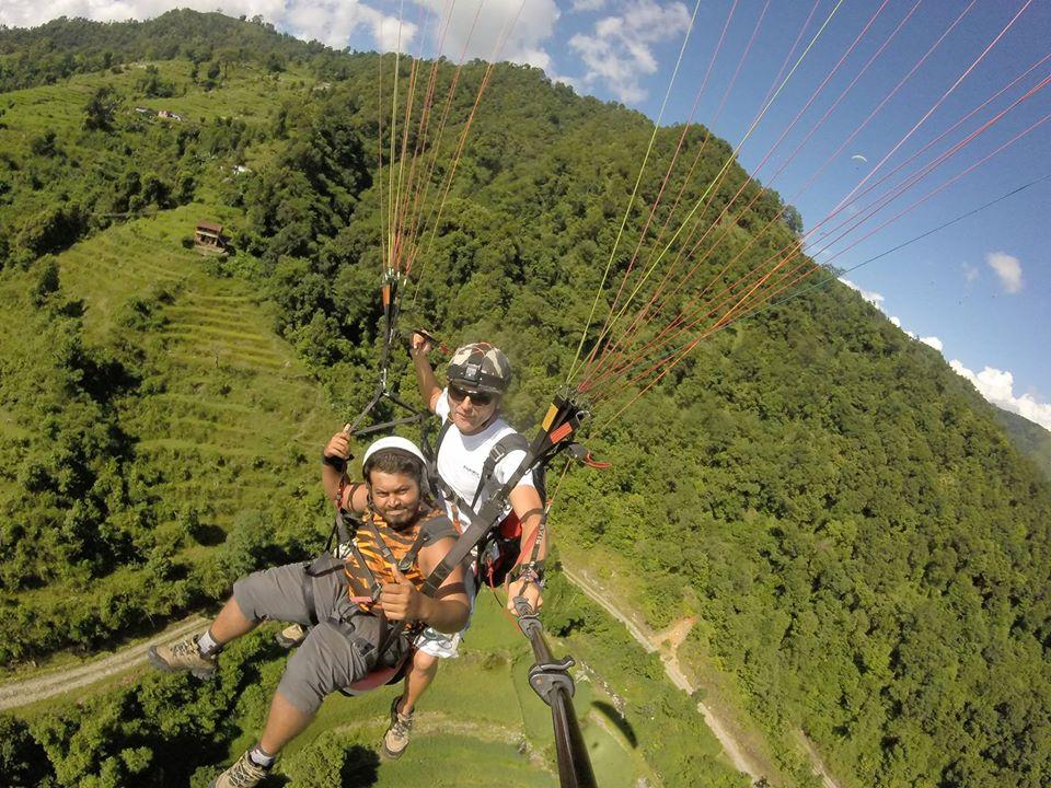 paragliding pokhara nepal প্যারাগ্লাইডিং পোখারা নেপাল